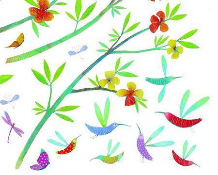 Djeco dd04503 pegatinas decorativas flores primavera p - Pegatinas para la pared ...